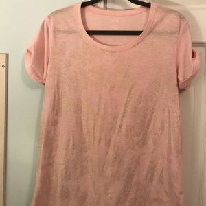 Pink and Gold t Shirt